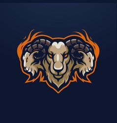 Goat mascot vector