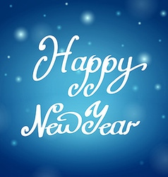 Happy New Year blue background vector image vector image