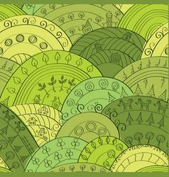 hills pattern vector image
