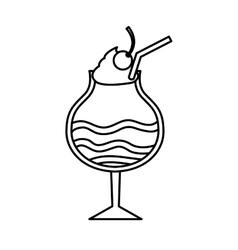 Milkshake sweet isolated icon vector