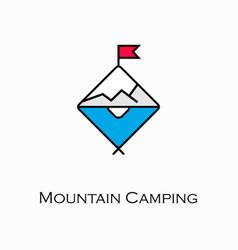 mountain camping icon vector image