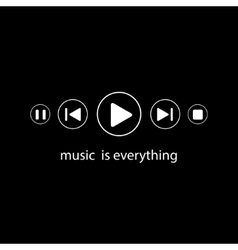 Music is everything vector