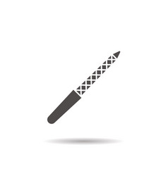 Nail file icon vector