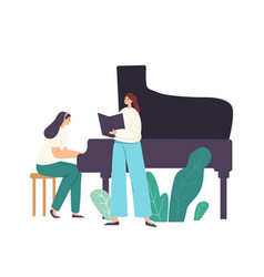 Opera chorus or soloist performance on stage vector