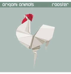 Origami isolated animal Rooster vector
