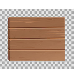 realistic 3d wooden plank sighboard vector image