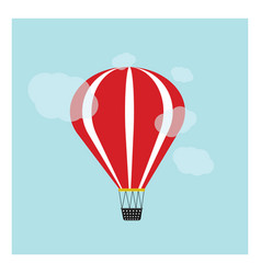 Red airballoon on a blue background vector