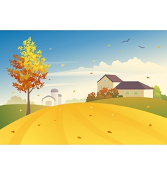 Rural fall vector image