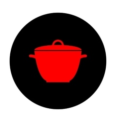 Saucepan simple Icon vector image vector image