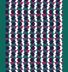 seamless geometric polygons patterns vector image