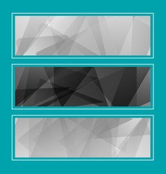set horizontal bright banners with empty place for vector image