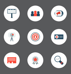 set of marketing icons flat style symbols with vector image