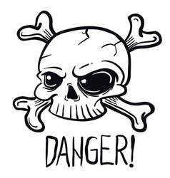 skull1 black vector image