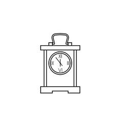 square table clock line icon clock icon premium vector image