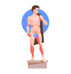 Statue david vector