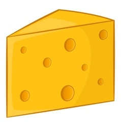 Swiss cheese icon cartoon style vector