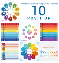 Templates infographics business conceptual cyclic vector
