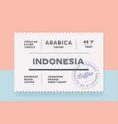 Vintage minimal label set graphic modern vector