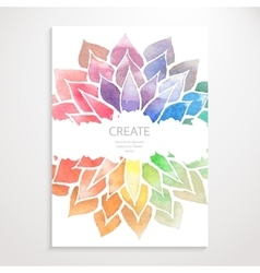 Watercolor rainbow flowers Poster vector image