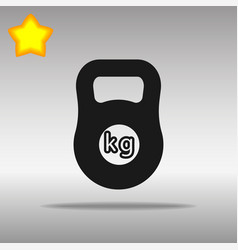 Weight kilogram barbell sign vector