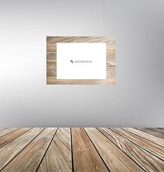 Wood frame wood floor vector image