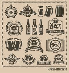 Beer Icon Set vector image vector image