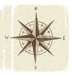 hand drawn wind rose vector image vector image