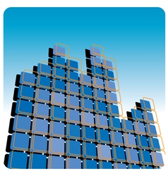 squares high rise vector image vector image