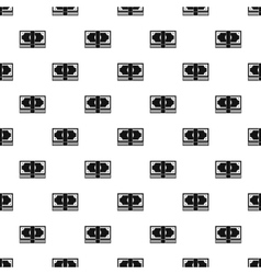 Stack of money pattern simple style vector image