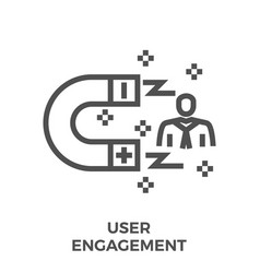 user engagement line icon vector image