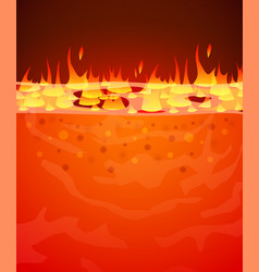 burn flame fire background hell lava or vector image vector image