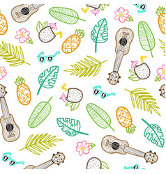 cartoon style vacation objects vector image