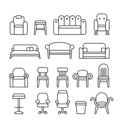 furniture chair armchair lounge sofa couch vector image vector image