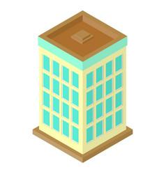isometric skyscraper vector image vector image