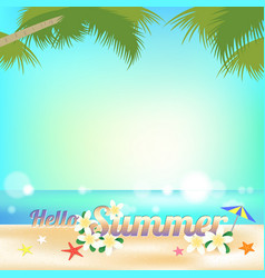 summer background banner and frame with sea vector image