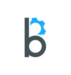 b letter and gear combination vector image