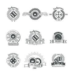 Backgammon Clubs Vintage Style Emblems vector image