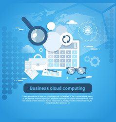 business cloud computing template web banner with vector image vector image