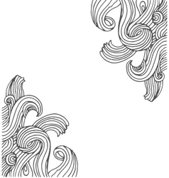 hand drawn doodle hippie background vector image vector image
