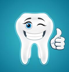Happy protected human teeth vector image