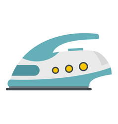 modern electric iron icon isolated vector image vector image