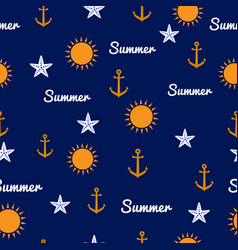 summer seamless pattern vector image