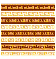 ancient Greek ornaments vector image vector image