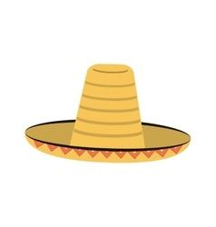 mexican hat sombrero icon vector image vector image