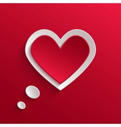 Speech bubble Valentines day backround vector image