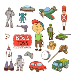 toys for boy vector image vector image