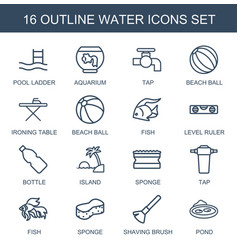 16 water icons vector