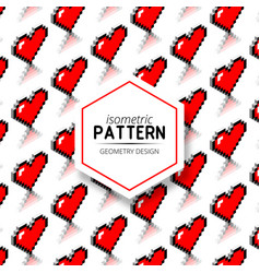 8 - bits isometric pattern design vector