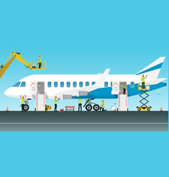 aircraft maintenance engineer vector image