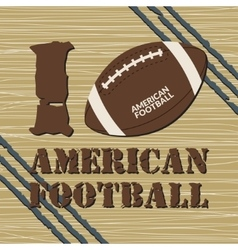 american football t-shirt vector image